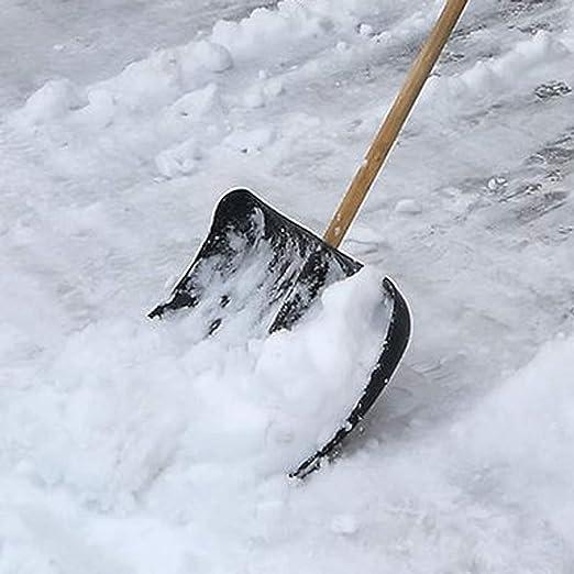 Pala da neve in plastica con manico in legno e manico 2 pezzi Land-Haus-Shop