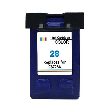 Kyansin Cartucho de Tinta 28 XL remanufacturado (C8728A) Tintas de Impresora de Alto Rendimiento para HP Deskjet 3320 3325 3420 3535 3538 3550 3645, 1 ...