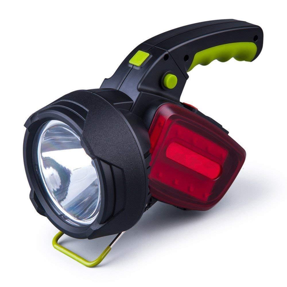 HWZXCLG USB Wiederaufladbar, Taschenlampe, superhelle Outdoor-Suchscheinwerfer, Multifunktionale Fernbedienung Beleuchtung Taschenlampe,rot,A