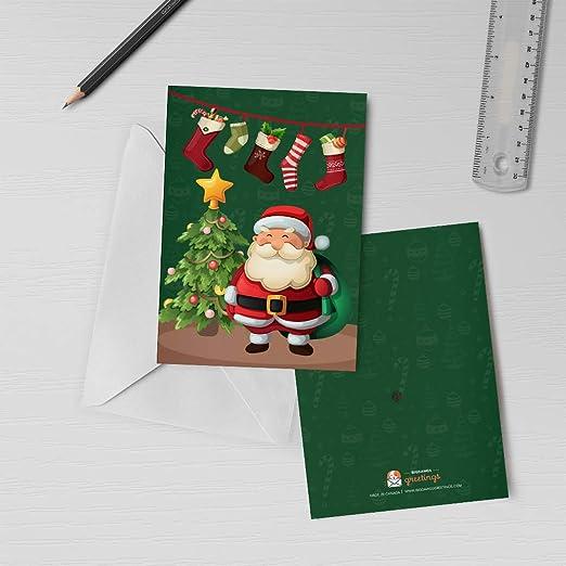 Weihnachtsmann Merry Christmas Karte Mit Sound Sprechende Weihnachtskarte Urlaub Musik Grußkarte Singende Weihnachtskarte 00249 120 Sekunden Aufzeichnbar Bürobedarf Schreibwaren