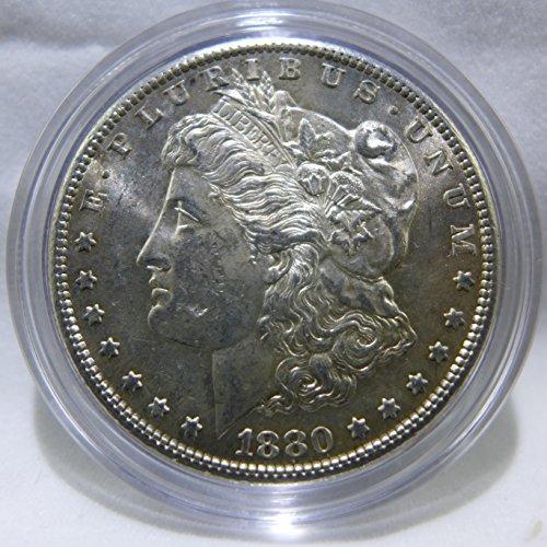 1880 S Morgan Silver Dollar Almost Uncirculated