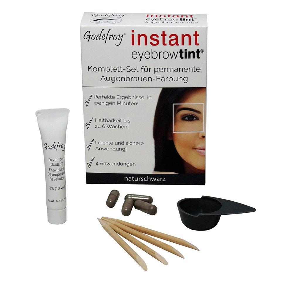 godef Roy Nuevo Cejas Color färbe Set Instant Eyebrow Tint ...