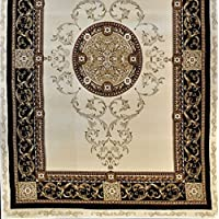 Homemusthaves-Ivory Floral Design Rug Carpet New Thick (10X13)