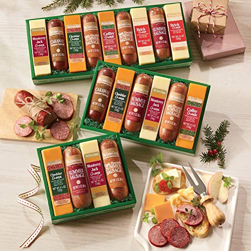 Sausages 'n Cheese Bars, Gift of 6 from The Swiss - Boxes Meat Gift