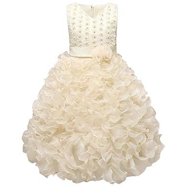 8e0a221690a0 GUOCU GUOCU Mädchen Kleid Prinzessin Kinderbekleidung Perlen ...