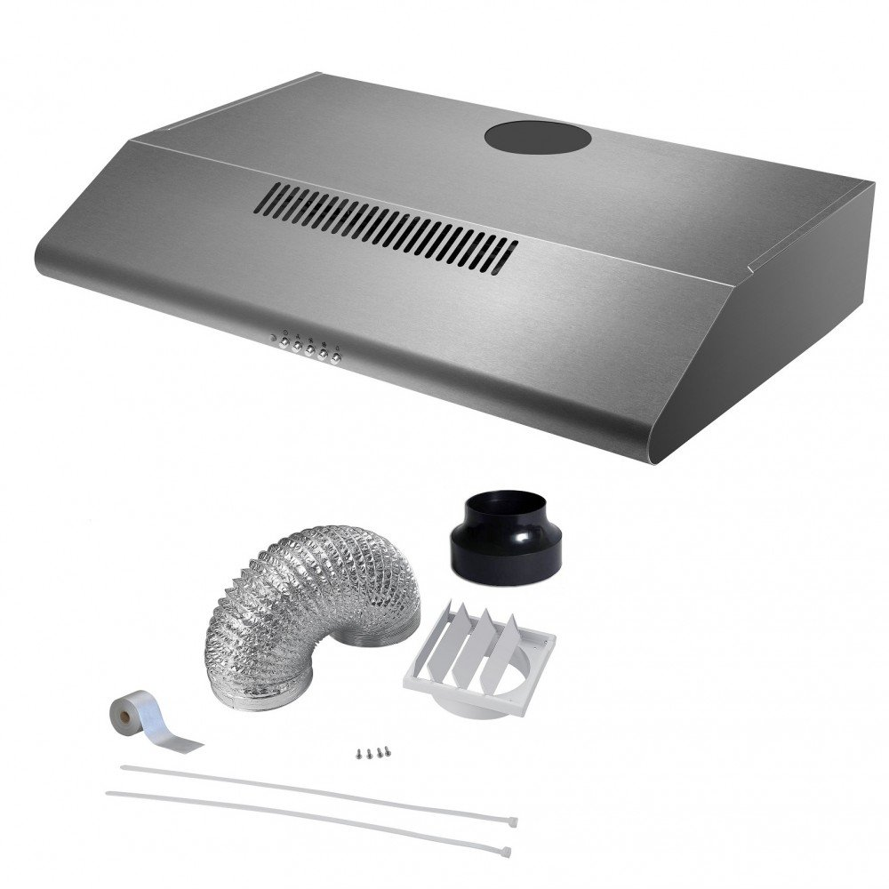 Cookology STAND600SS DK1M120 60cm Stainless Steel Visor Cooker Hood Extractor Fan & Duct