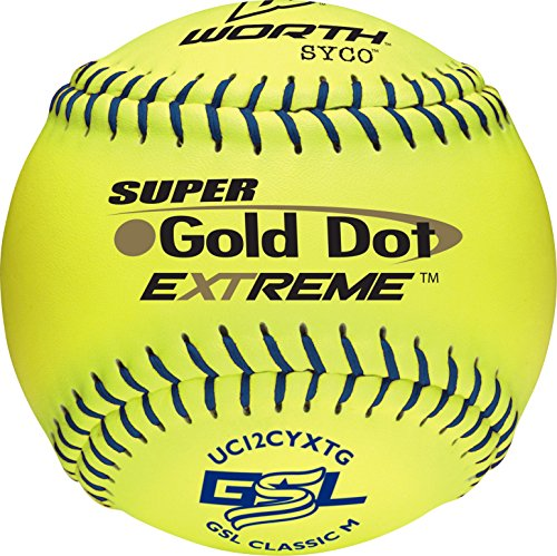 Worth GSL Slow-Pitch Pro Comp XT Classic Soft Balls, 12