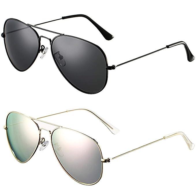 Amazon.com: DeBuff Aviator - Gafas de sol polarizadas para ...
