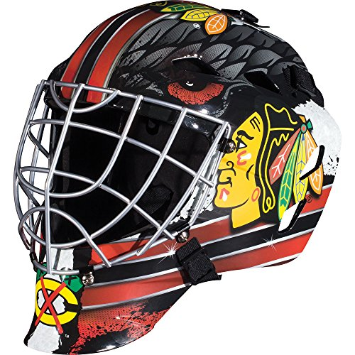 Franklin Sports Chicago Blackhawks NHL Hockey Goalie Face Mask - Goalie Mask for Kids Street Hockey - Youth NHL Team Street Hockey Masks