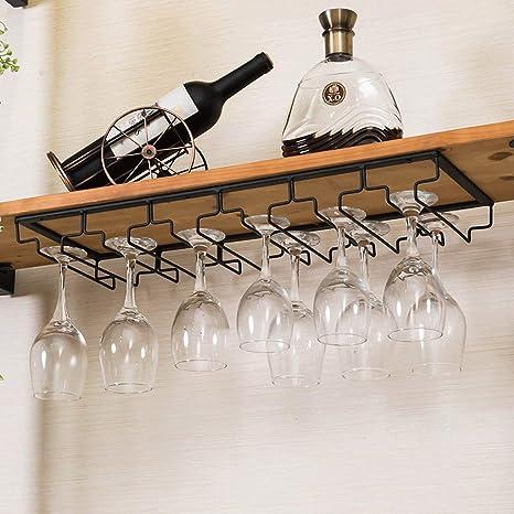JIU Hierro Portavasos de Vino Colgando Sala de Estar Cocina Rack de Almacenamiento Restaurante Vinoteca Cubilete