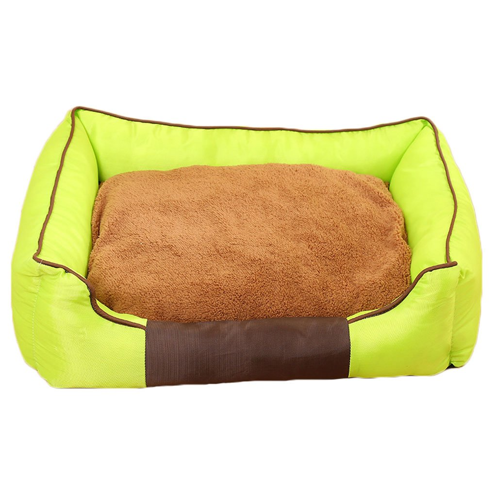 GREEN M GREEN M Pet bed Oxford cloth dog nest soft and comfortable breathable waterproof non-slip durable multi-color optional A1 Pet bed (color   GREEN, Size   M)