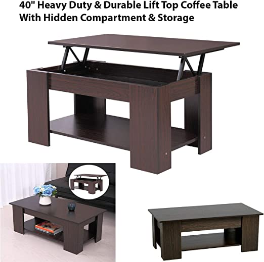 Amazon Com 40 Heavy Duty Durable Lift Top Coffee Table With