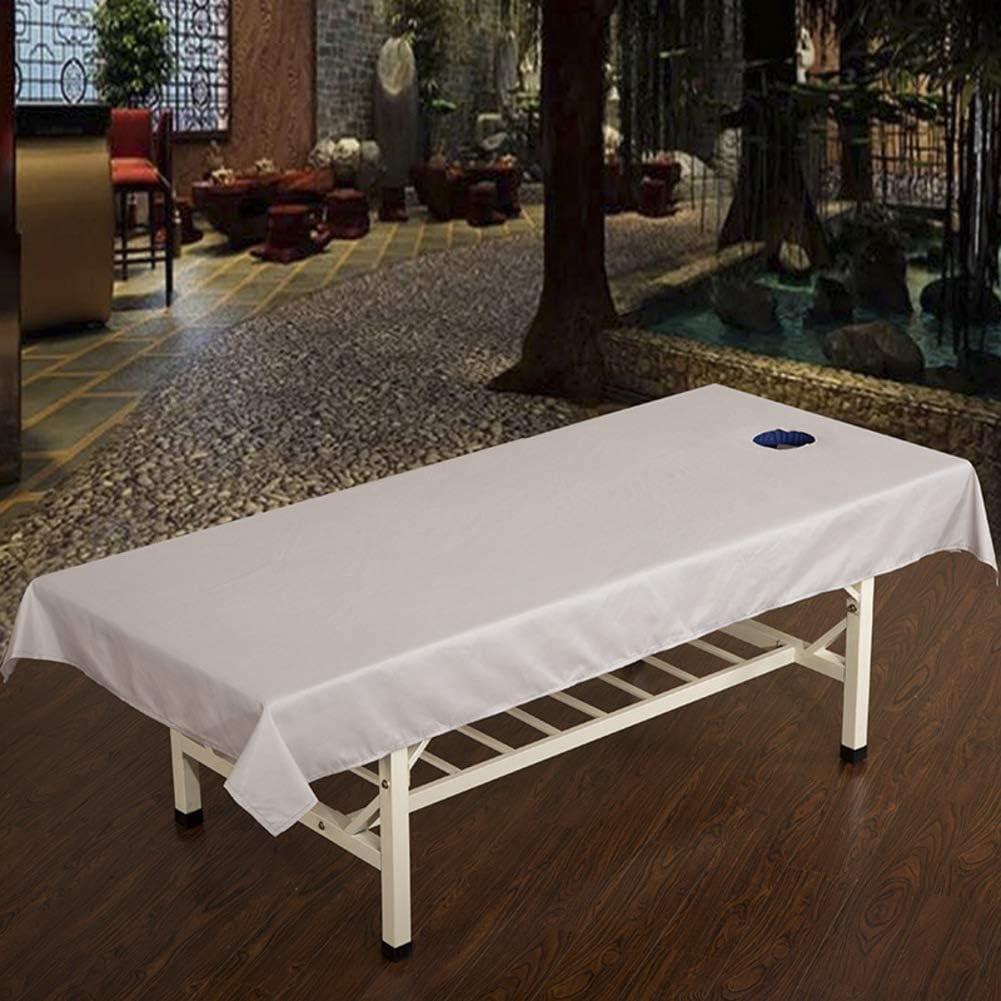 UP/&sleep Massage Tisch Sheet Waschbar Wiederverwendbar Mit Gesicht Rest Loch,Beauty Salon Medizinische klinik Physiotherapeutin Chiropraktiker Sportverein-Blau 120x240cm 47x94inch