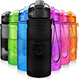 Sports Water Bottle, 400/500/700ml/1L, BPA Free Leak Proof Plastic Bottles For Outdoors,Camping,Cycling,Fitness,Gym,Yoga- Kids/Adults Drink Bottles With Filter,Flip Top,Lockable Lid Open With 1 Click