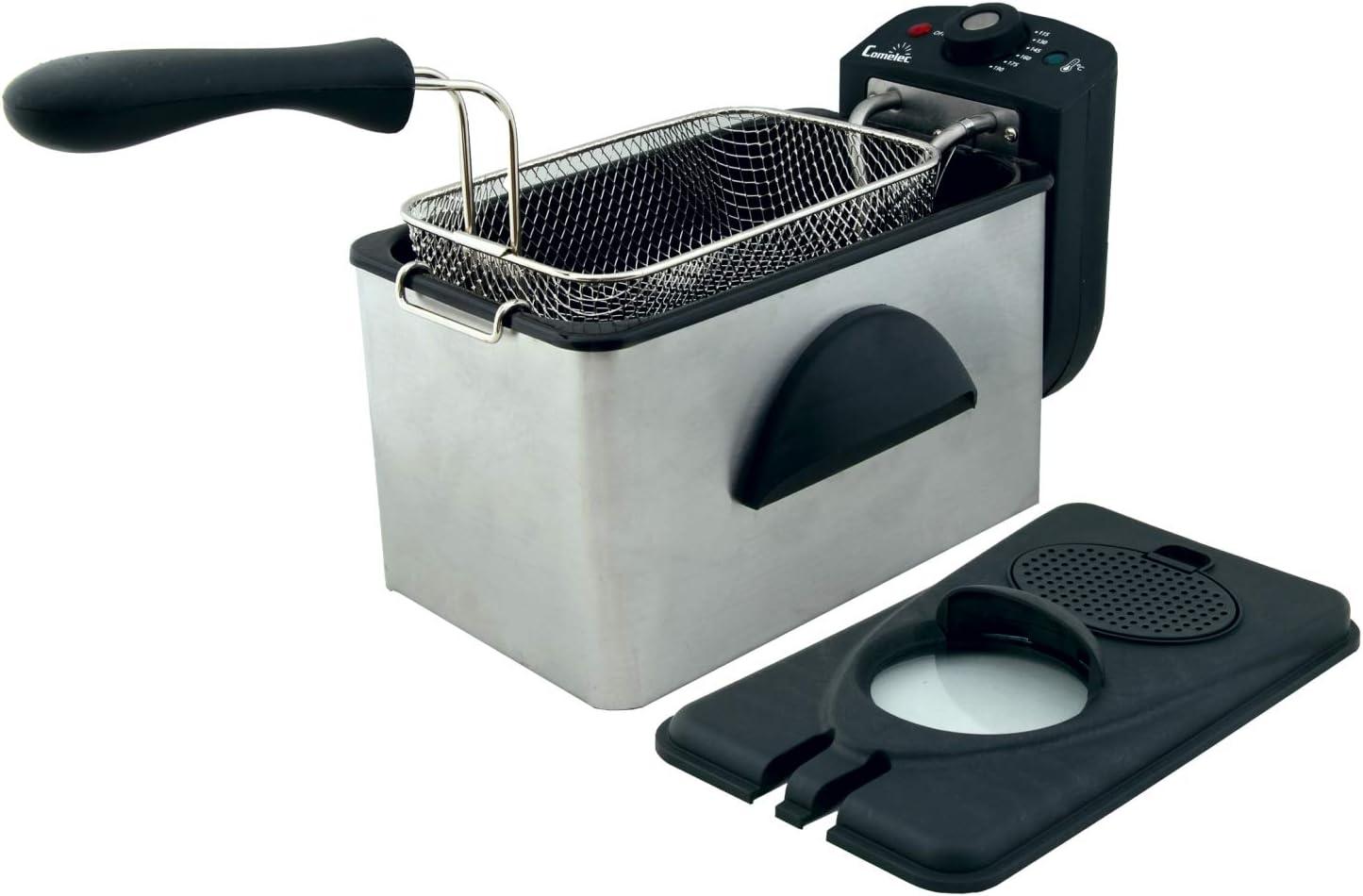 Comelec FR 3082 Freidora eléctrica, 2000 W, Blanco/Negro: Amazon.es