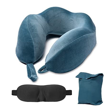 Almohada de viaje con bolso de viaje Algodón de memoria gel ...