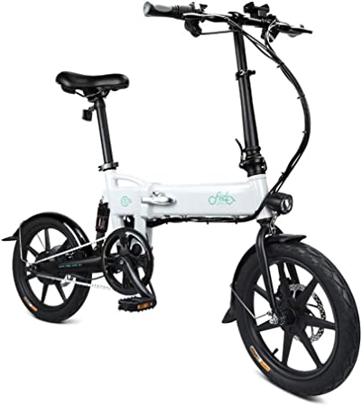 L&U Bicicleta eléctrica Plegable D2 de 16 Pulgadas con Marco de ...