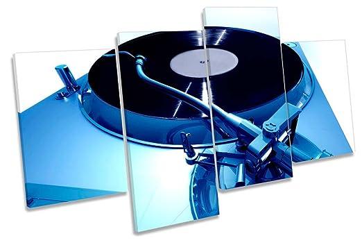 Tabla de DJ Tocadiscos Música Lienzo Arte de la pared marco de ...