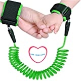 Baby Anti Lost Wrist Link Hand Belt Toddlers Safety Harness Leash Wristband for Kids and Parents (Green)