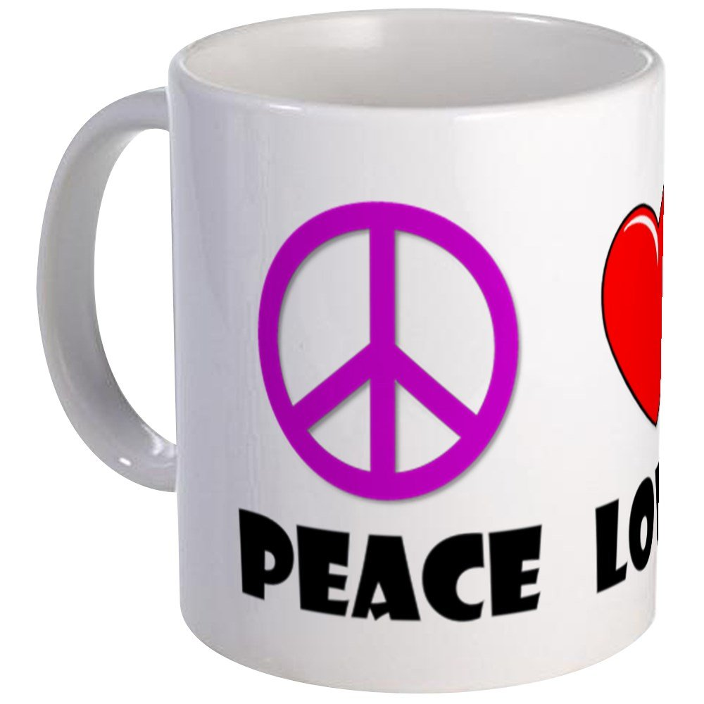 CafePress - Peace Love Bingo Mug - Unique Coffee Mug, Coffee Cup by CafePress