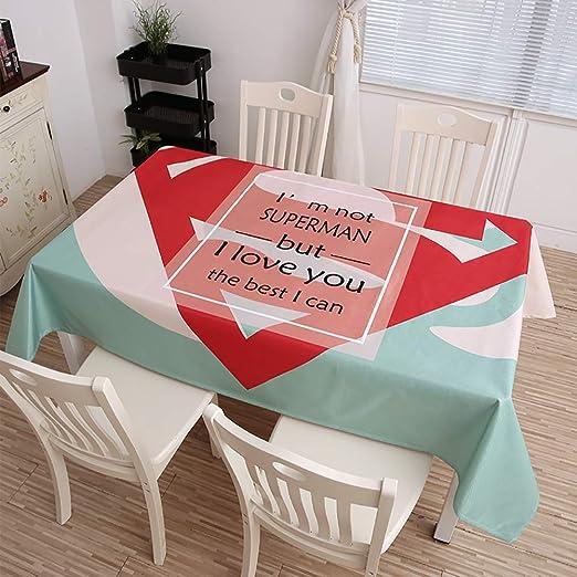 AMENZ Tablecloth Manteles de Algodón Lino Antimanchas Impermeable ...