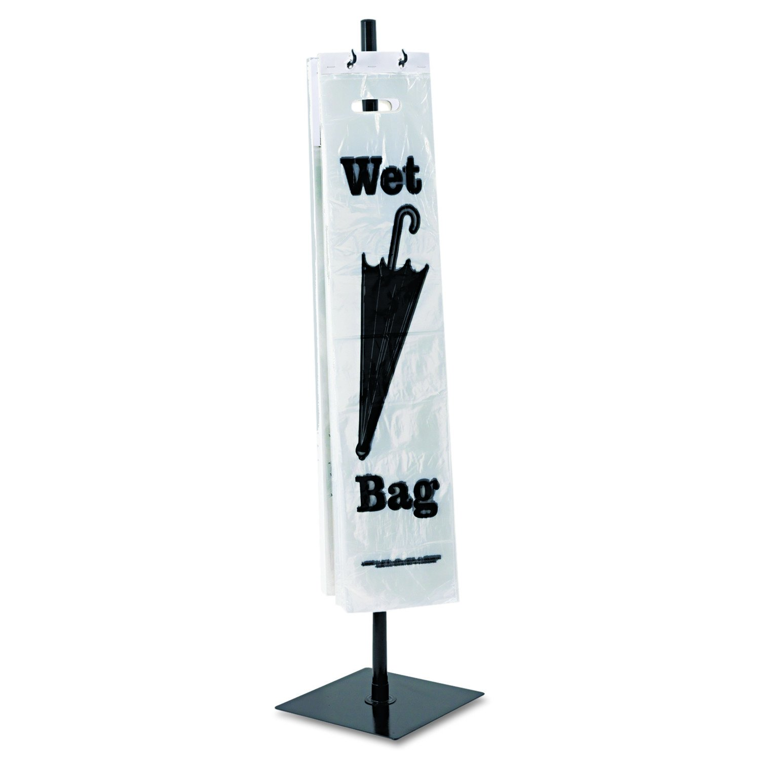 Tatco Wet Umbrella Stand, 10 Width x 40 Height, Powder Coated Steel, Black (57019) by Tatco
