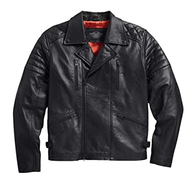 Harley-Davidson Mens Lambskin Lightweight Biker Leather Jacket ...