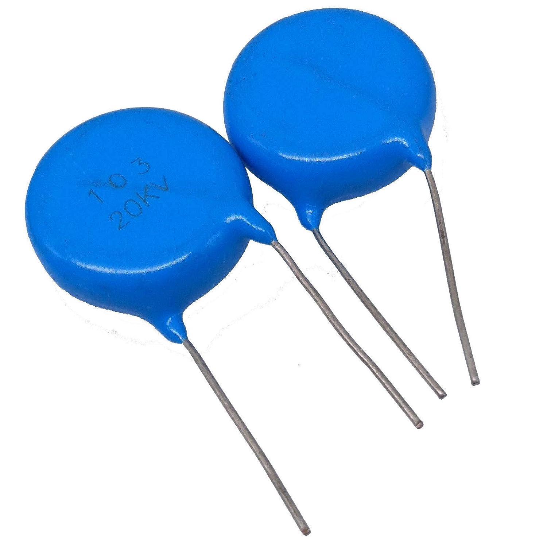 5pcs Ceramic Disc Capacitors 10000pf 10nf 0.01uf 103 20000V 20KV