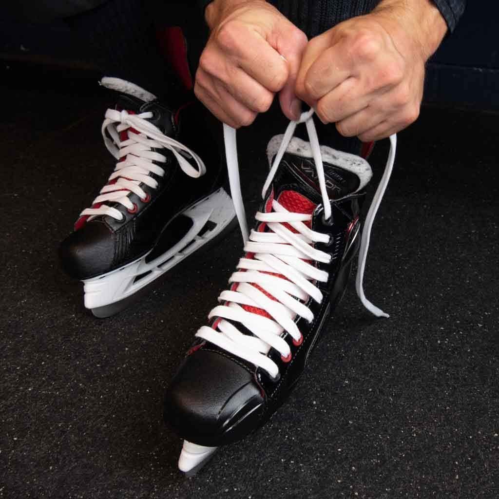 ZEBRASCLUB White Waxed Hockey Referee Laces 2.0 4X 96 130 120 108 - 84