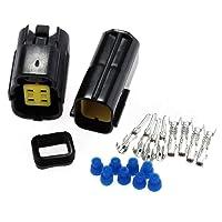 2ensembles Auto 4pin Way étanche Fil connecteur de câble prise mâle et femelle de Kits de durable Auto électrique