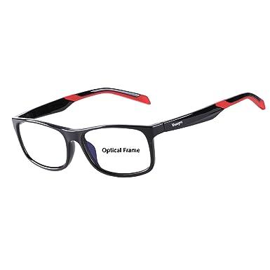 Amazon.com: Eyewear Frames-Vseegrs Fashion Designer Rectangle ...