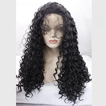 Synthetic Lace Front Wig For Black Women Kinky Curly Lace Wig Synthetic Heat Resistant Fiber Hair