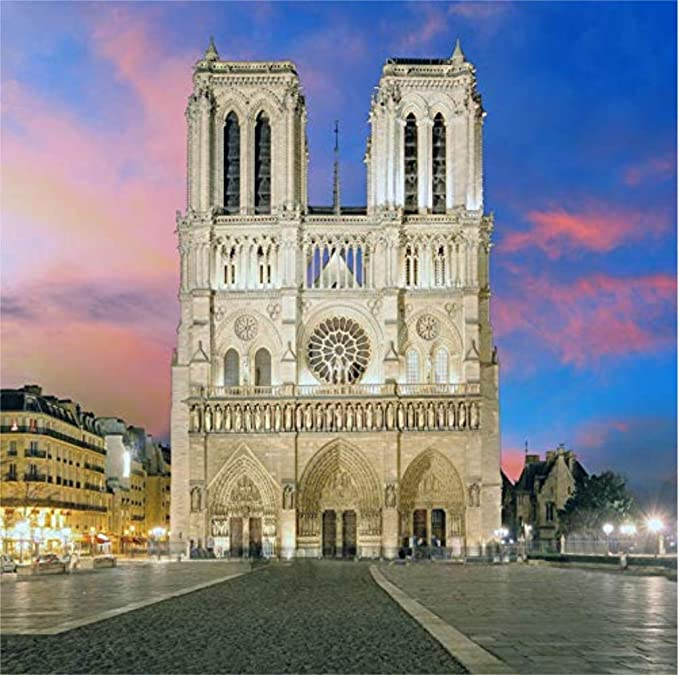 GoEoo 10x8ft European Cathedral Backdrop Vinyl Photography Background Famous Church Wedding Ceremony Backdrop Shooting Religious Belief Activity Background Photo Studio