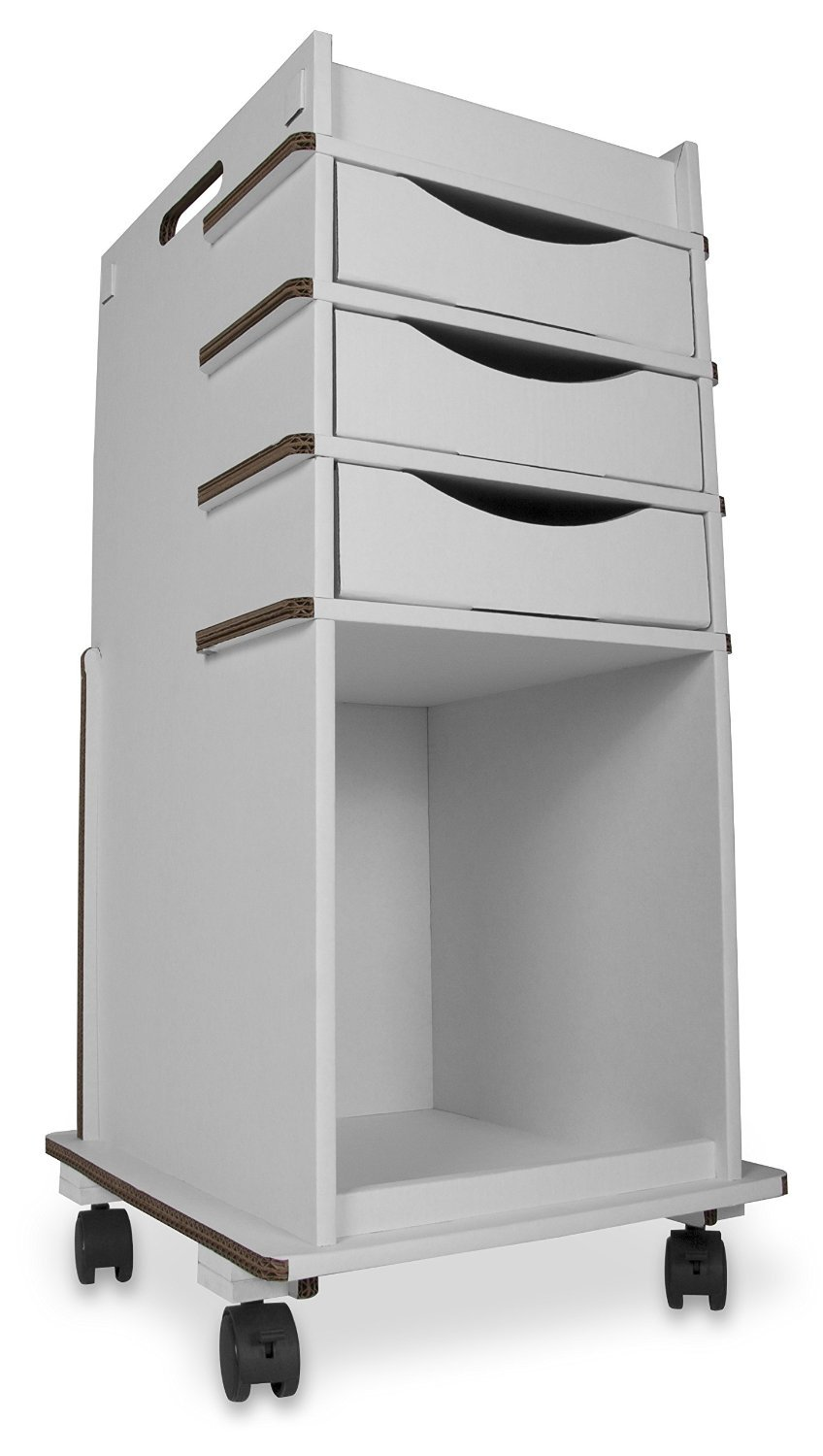 TrippGo Disposable Cart with 3 Drawers by TrippNT, 51698, 16'' x 34'' x 17'', White (Pack of 3)