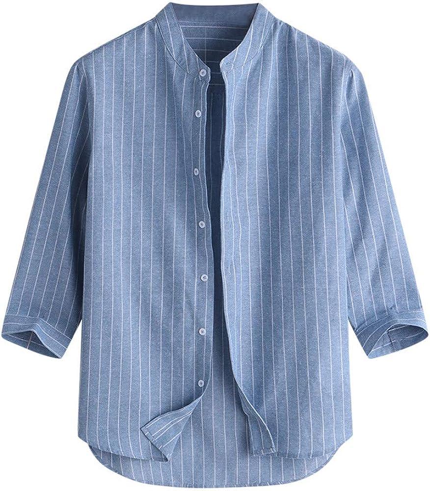 Henley Camisas clásicas de Manga Corta con Botones para Hombre, Ajuste Regular, para Verano, Casual, Playa, suéter Azul Azul M: Amazon.es: Ropa y accesorios