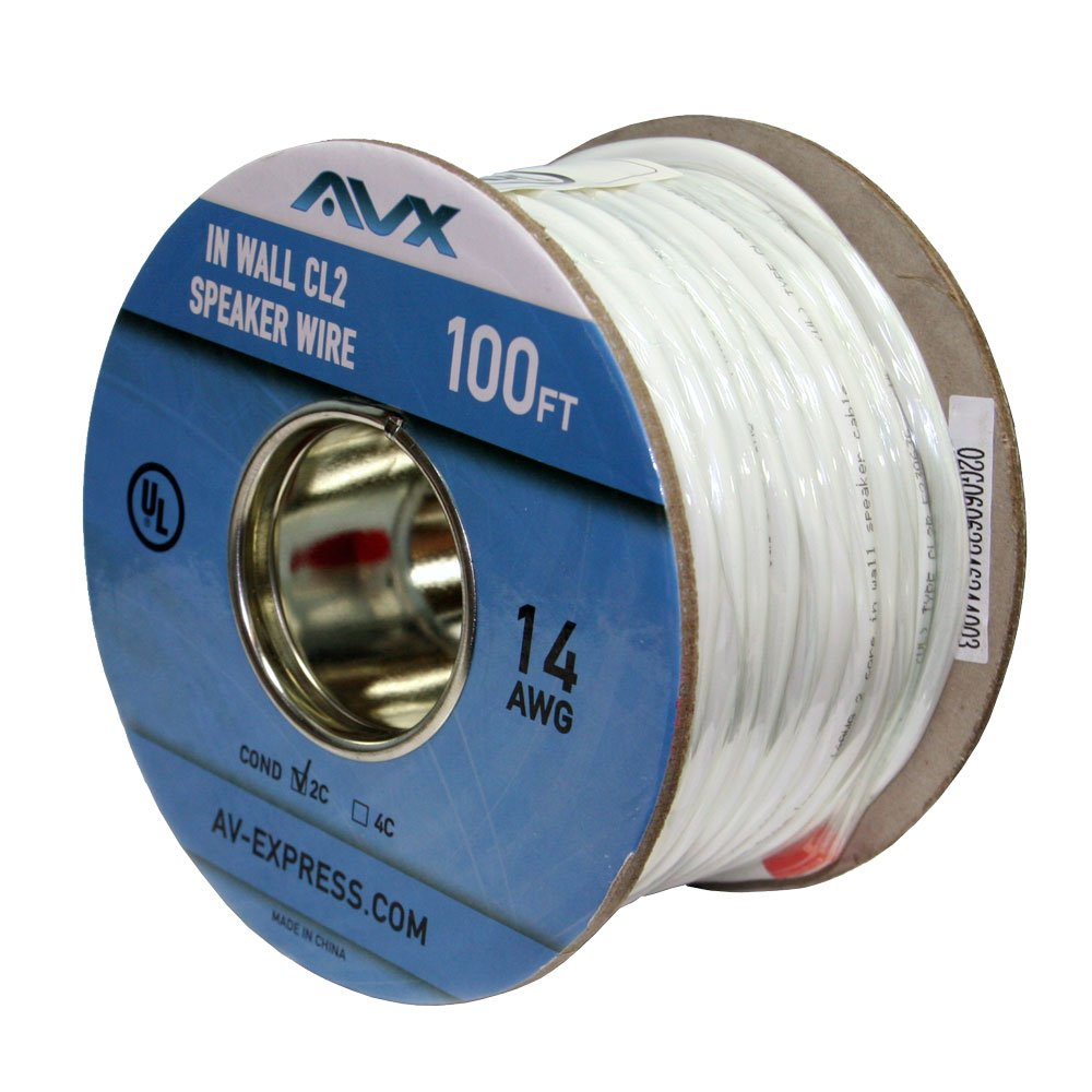 Amazon.com: AVX Audio - 100 Feet 14 AWG CL2 Rated (For In-Wall Usage ...