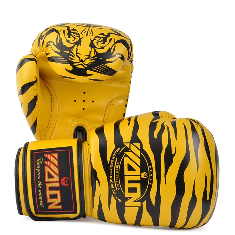 XINTD Boxing Gloves 10oz 8oz Sparring Professional Tiger Pattern MMA Muay Thai Kickboxing Training Fight Punch Gloves Protective Leather Gloves,Pink,8oz