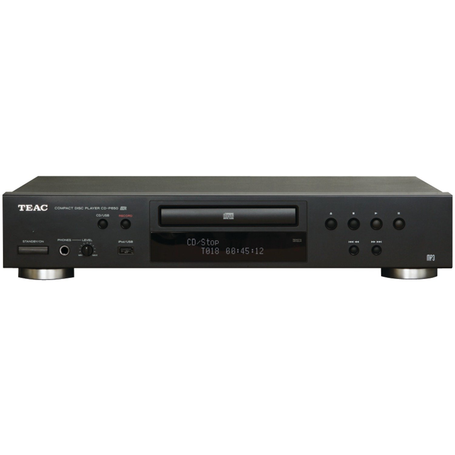 TEAC CD-P650-B Compact Disc Player with USB and iPod Digital Interface (Black) (Renewed) by Teac
