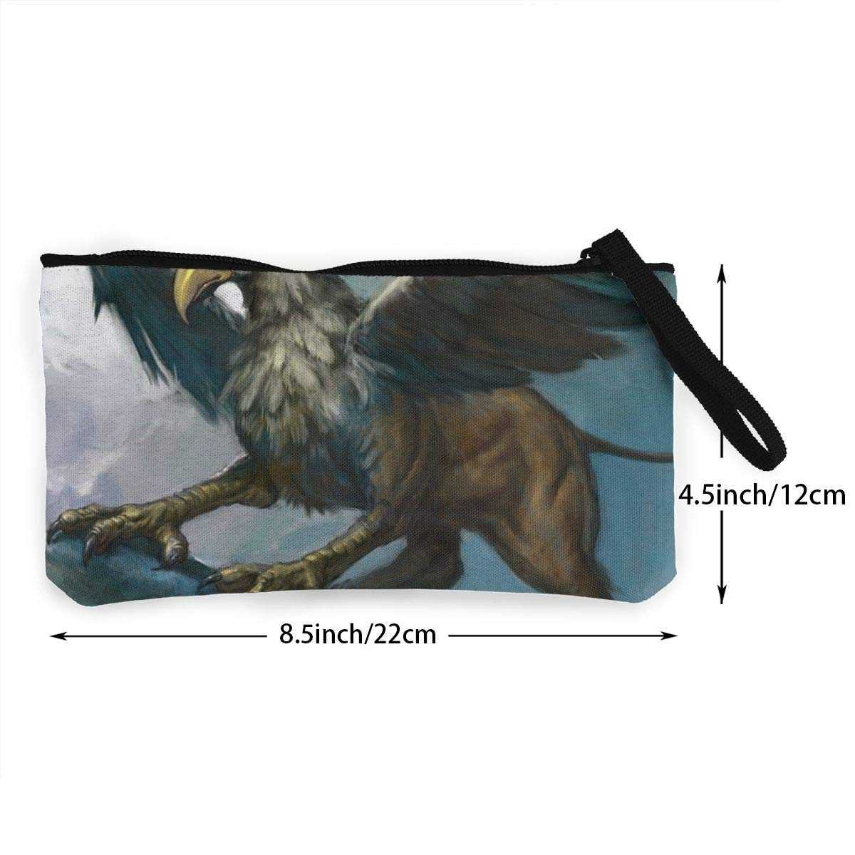 Griffin Painting Women Mini Canvas Coin Purse Fashion Card Holder Wallet