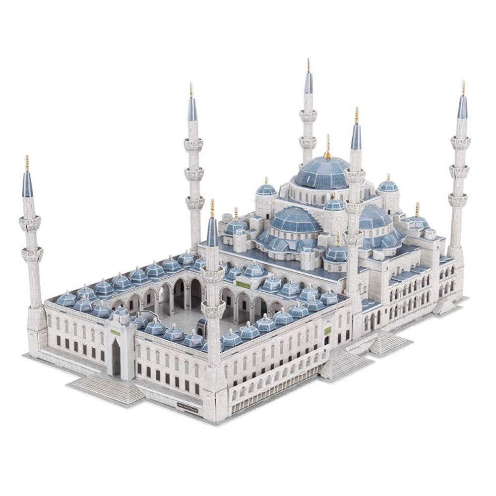 Disfruta de un 50% de descuento. Modelo de bricolaje bricolaje bricolaje Conjunto De Modelos De Bricolaje  Turquía Mezquita Azul Edificio De Simulación 3D Rompecabezas Tridimensional Papel De Plástico Decoración Adultos Niños Souvenir 53  35  29 Cm  tienda de venta