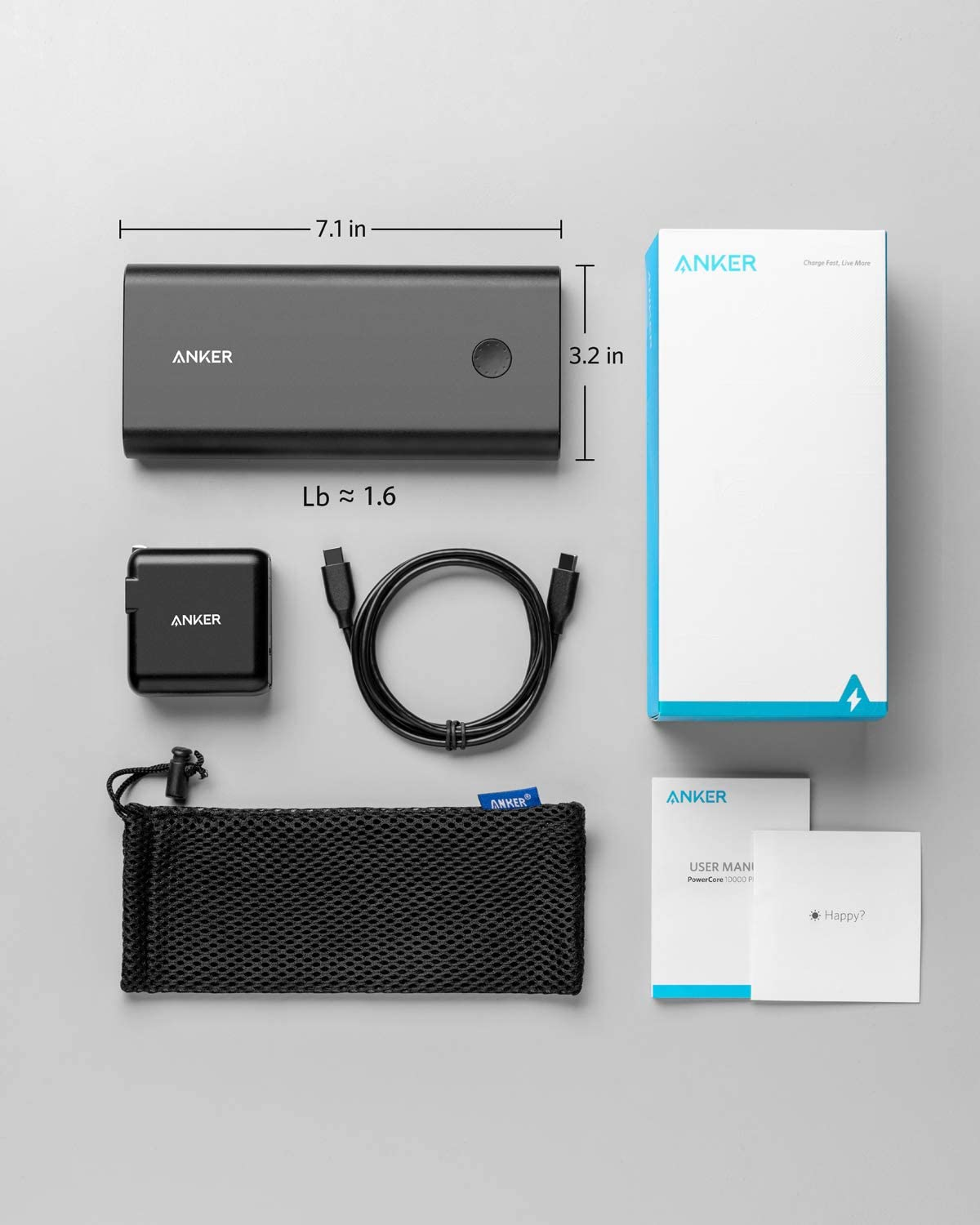 Anker PowerCore+ 26800mAh PD 45W with 60W PD Charger, Power Delivery Portable Charger Bundle for USB C MacBook Air/Pro/Dell XPS, iPad Pro 2018, iPhone 12 / Mini / 11/ Pro / XS Max / X / 8, and More