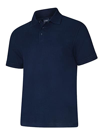 Uneek 250 gsm Johnny Collar Polo Shirt Gr. L, Weiß - Weiß: Amazon.de:  Bekleidung