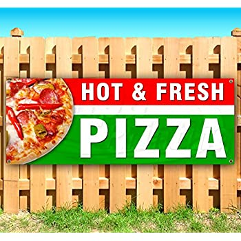 Amazon Com 3 X5 Fresh Hot Pizza Advertisement Banner