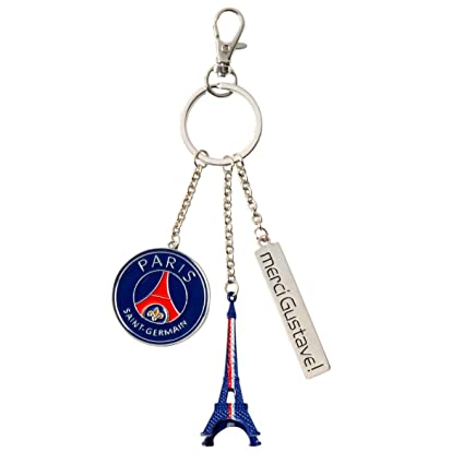 Merci Gustave pocl3109 Llavero PSG Paris EST mágico Metal ...