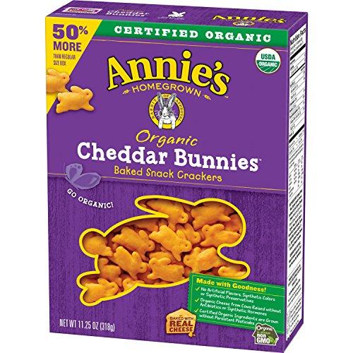 Annie's Organic Cheddar Bunnies Baked Snack Crackers, 11.25 (Bunnies Baked Snack Crackers)
