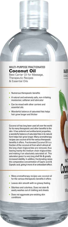 Majestic Pure - Aceite de coco fraccionado 16 Oz - 100% puro y natural - Hidratante y Suavizante, excelente Aceite de masaje de pura Majestic: Amazon.es: ...