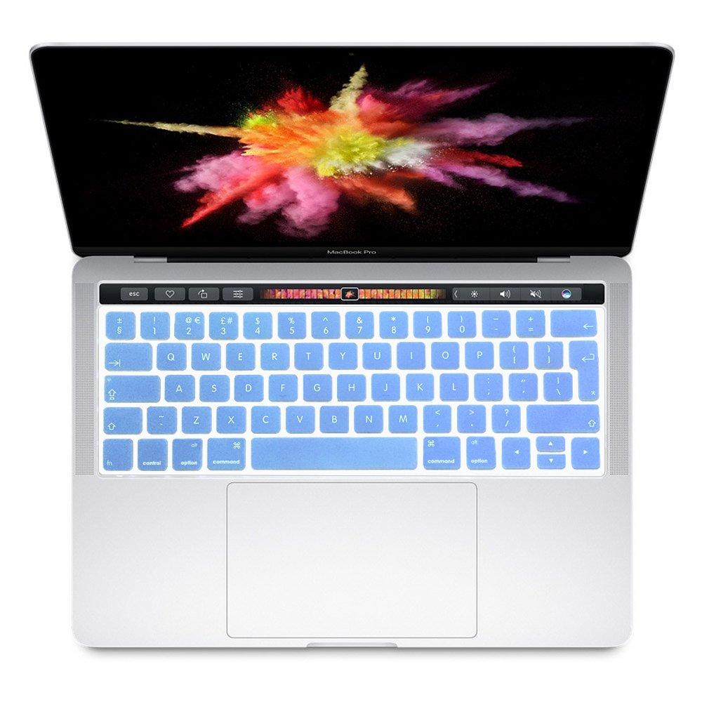 Se7enline Protection de clavier souple et ultra-fine en silicone TPU pour MacBook Pro 13',15', 17' avec écran Retina et MacBook Air 13', coloris champagne doré Track Pad Protector Touchpad Protector for 2016 2017 Pro 13 inch 15