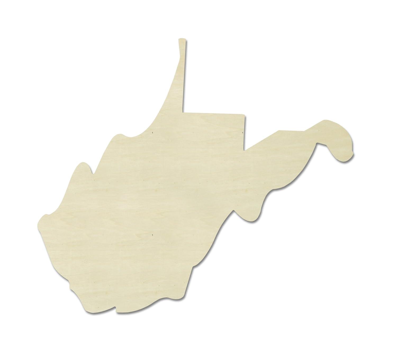 UNFINISHEDWOODCO recortes de madera de Estado inconcluso, West Virginia