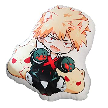 Mikucos Anime Boku No Hero My Hero Academia Bakugou Katsuki Plush Doll Toy Pillow Cushion 48cm