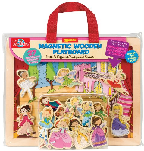 T.S. Shure Princess, Ballet & Fairies Magnetic Wooden Playboard -